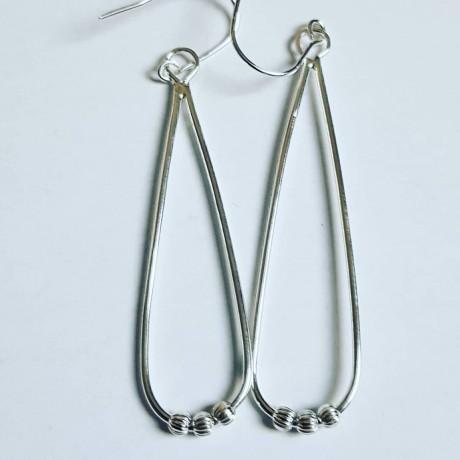 Sterling silver earrings Summer Sways, Bijuterii de argint lucrate manual, handmade