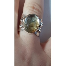 Sterling silver ring with natural citrine Vintage Honey