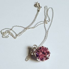 Sterling silver necklace Mad Pink
