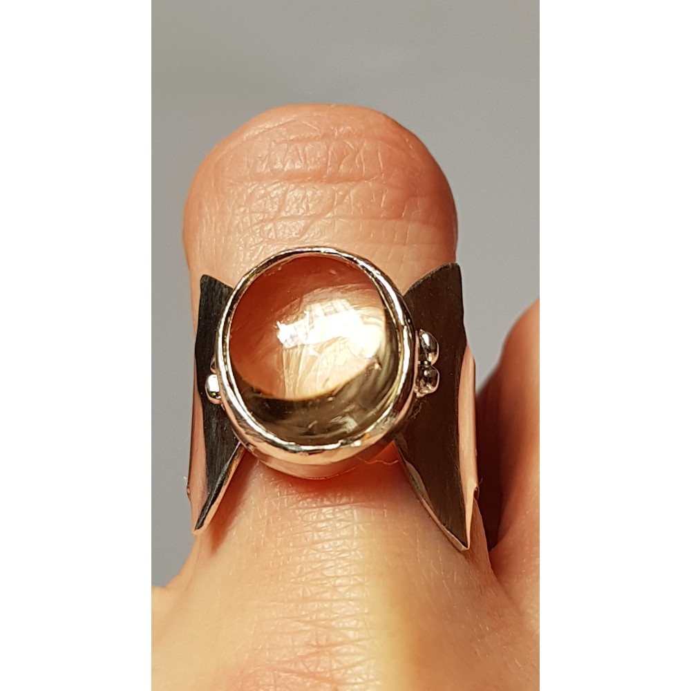 Sterling silver ring with natural citrine Lady Sparkle