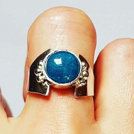 Sterling silver ring with natural aquamarine Lady Dash, Bijuterii de argint lucrate manual, handmade