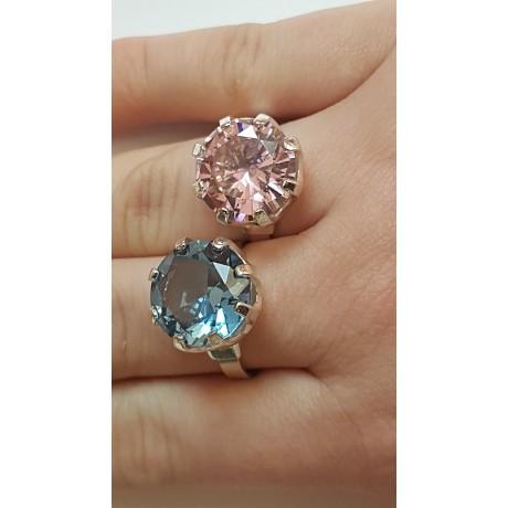 Sterling silver ring Hazy Pink, Bijuterii de argint lucrate manual, handmade