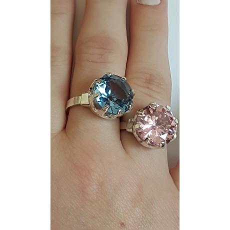 Sterling silver ring Blue Anew, Bijuterii de argint lucrate manual, handmade