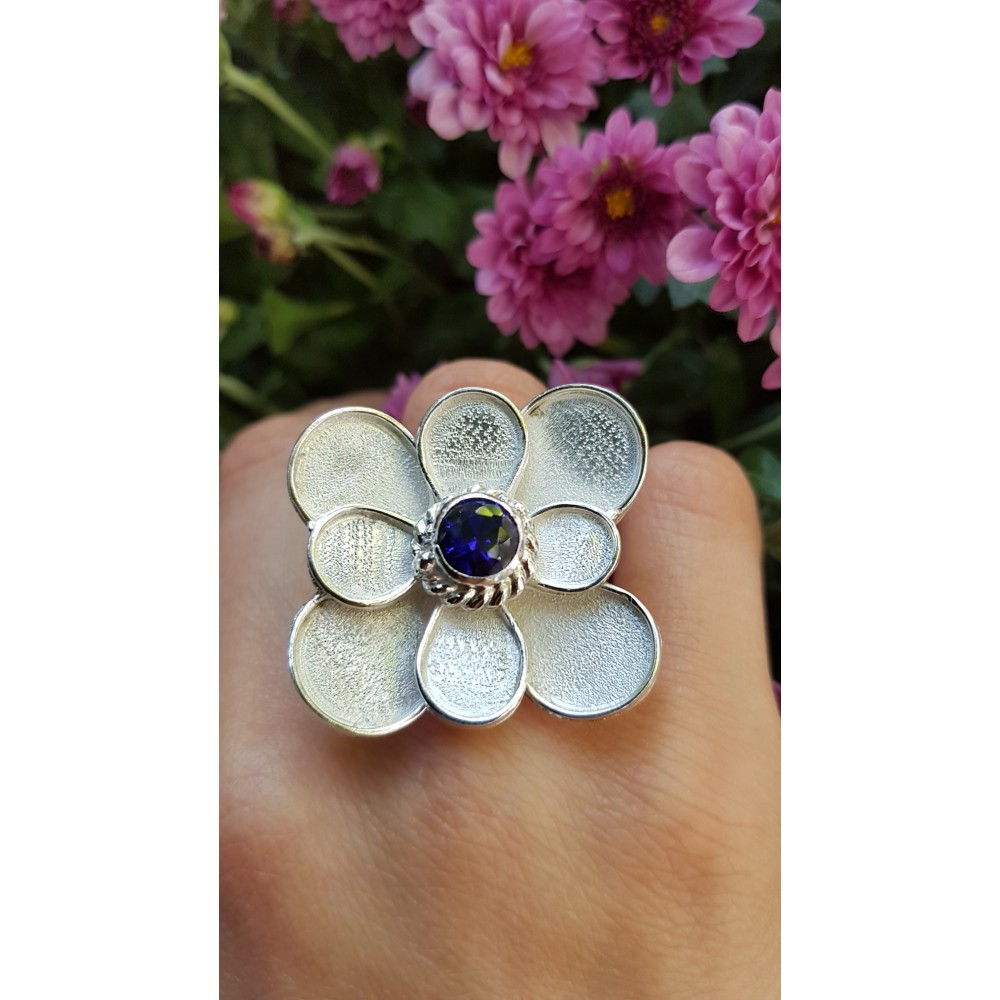 Sterling silver ring Summer Bloomin'