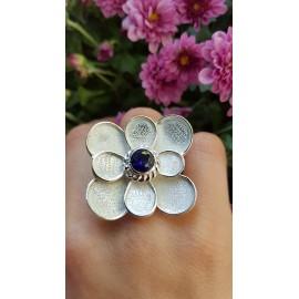 Sterling silver ring Summer Bloomin', Bijuterii de argint lucrate manual, handmade