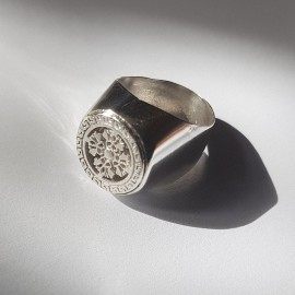 Sterling silver ring Crossy