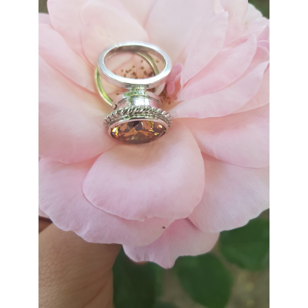 Massive Sterling silver ring Sign of Coquettry