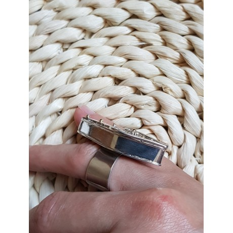 Inel Ag masiv 925 cu aur 14k Thrive & Ignite, Bijuterii de argint lucrate manual, handmade