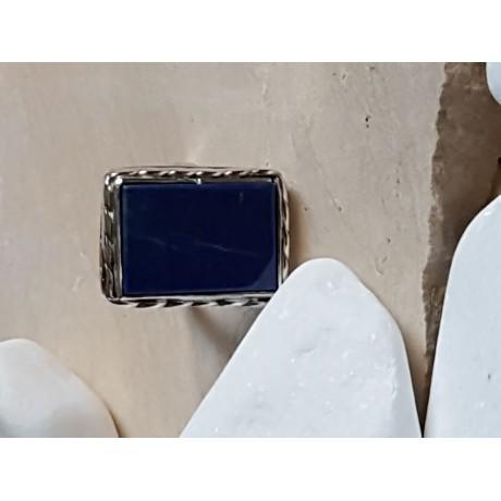 Sterling silver ring with natural lapislazuli Summer-Minded, Bijuterii de argint lucrate manual, handmade