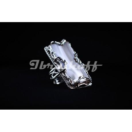 Inel argint cu piatra agat, Bijuterii de argint lucrate manual, handmade