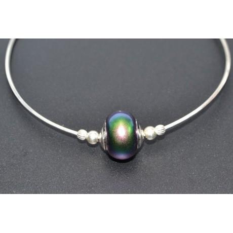 Bratara Lush Emerald Highlight, Bijuterii de argint lucrate manual, handmade