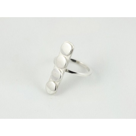 Inel Bits of Glow, Bijuterii de argint lucrate manual, handmade