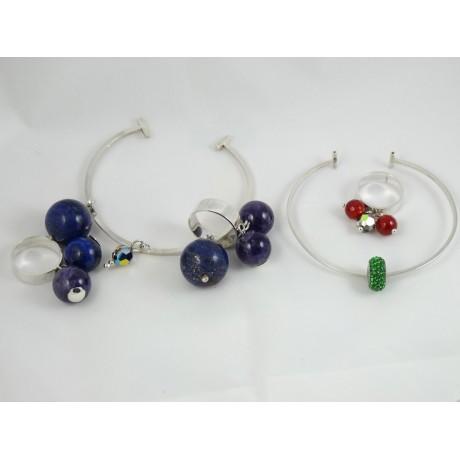 Inel Focal Flirt, Bijuterii de argint lucrate manual, handmade