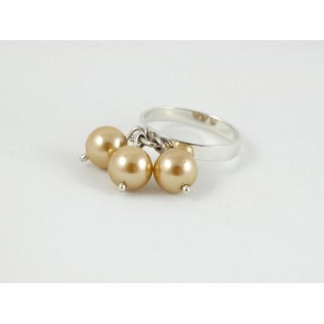 Inel Pearl Blossoms, Bijuterii de argint lucrate manual, handmade