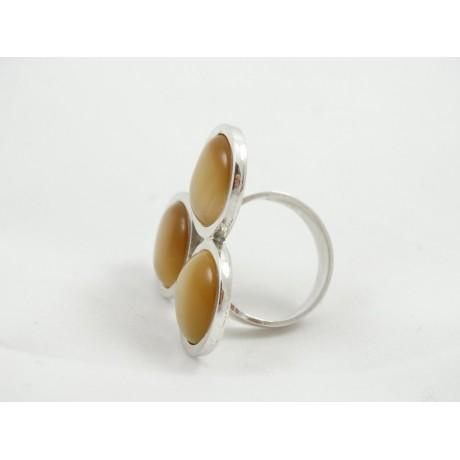 Inel masiv Amber Infusions, Bijuterii de argint lucrate manual, handmade