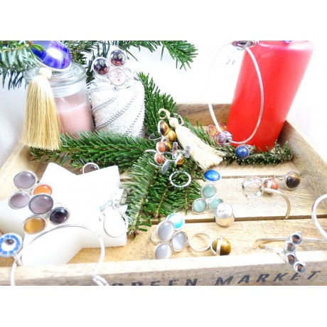Inel masiv Inflorescence, Bijuterii de argint lucrate manual, handmade