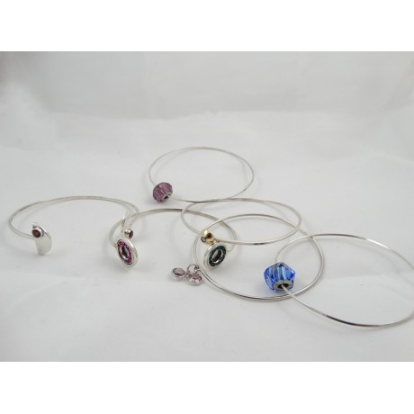 Bratara circulara Christmas Frenzy, Bijuterii de argint lucrate manual, handmade