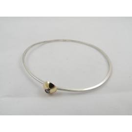 Bratara Gold Wink, Bijuterii de argint lucrate manual, handmade
