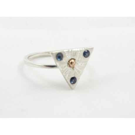 Inel de logodna Love's Spoils, Bijuterii de argint lucrate manual, handmade