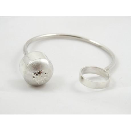 Bratara Christmas Parcel, Bijuterii de argint lucrate manual, handmade