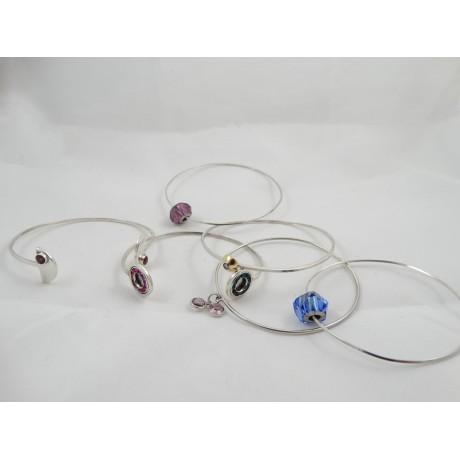 Bratara Creamy Whisk, Bijuterii de argint lucrate manual, handmade