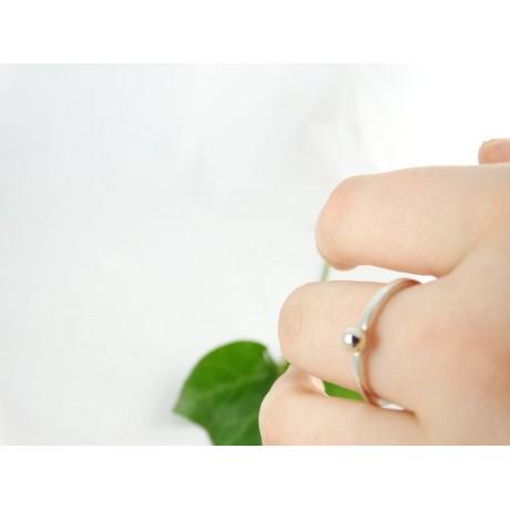 Sterling silver engagement ring Grain of Splendour, Bijuterii de argint lucrate manual, handmade