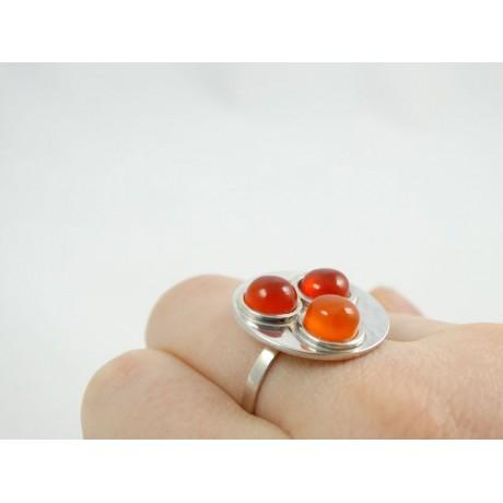 Sterling silver engagement ring Love Spots, Bijuterii de argint lucrate manual, handmade