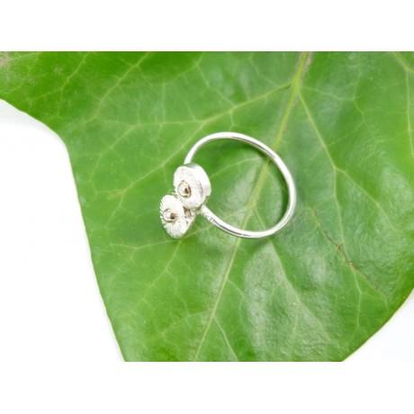 Sterling silver engagement ring Love Nest, Bijuterii de argint lucrate manual, handmade