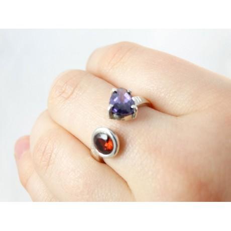 Sterling silver engagement ring Love Brew, Bijuterii de argint lucrate manual, handmade