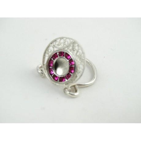 Sterling silver engagement ring FeastOnLove , Bijuterii de argint lucrate manual, handmade