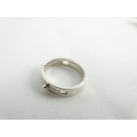 Sterling silver engagement ring Coup de foudre, Bijuterii de argint lucrate manual, handmade