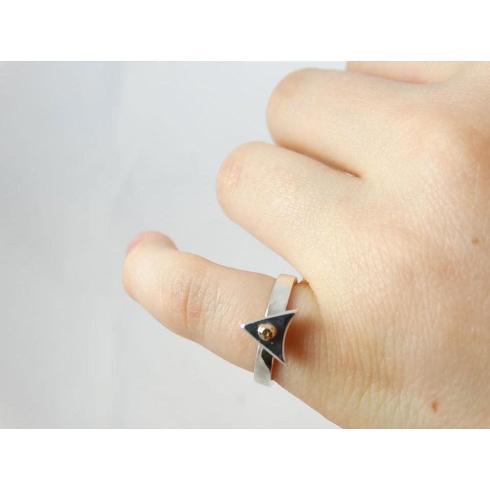 Sterling silver engagement ring LoveSip, GoldenArrow