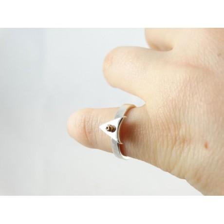 Sterling silver engagement ring LoveSip, GoldenArrow, Bijuterii de argint lucrate manual, handmade