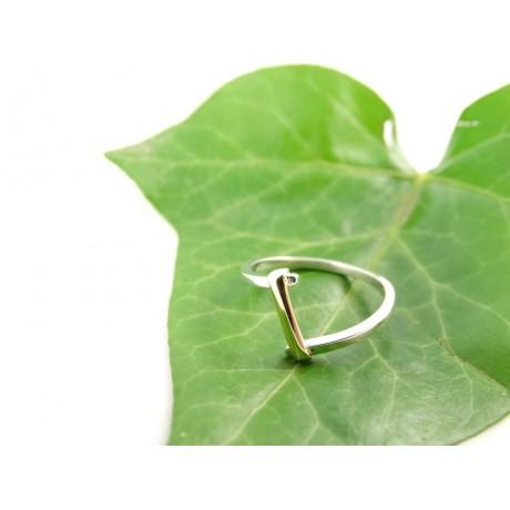 Sterling silver engagement ring LoveTie, Bijuterii de argint lucrate manual, handmade