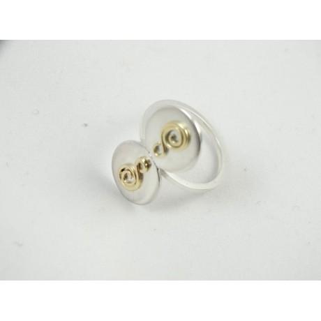 Sterling silver engagement ring LoveCoils, Bijuterii de argint lucrate manual, handmade