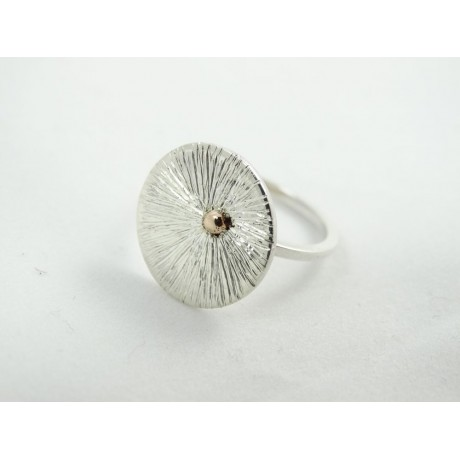 Sterling silver engagement ring LoveScapes, Bijuterii de argint lucrate manual, handmade
