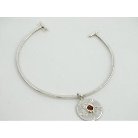 Sterling silver bracelet Euphoric Stance, Bijuterii de argint lucrate manual, handmade