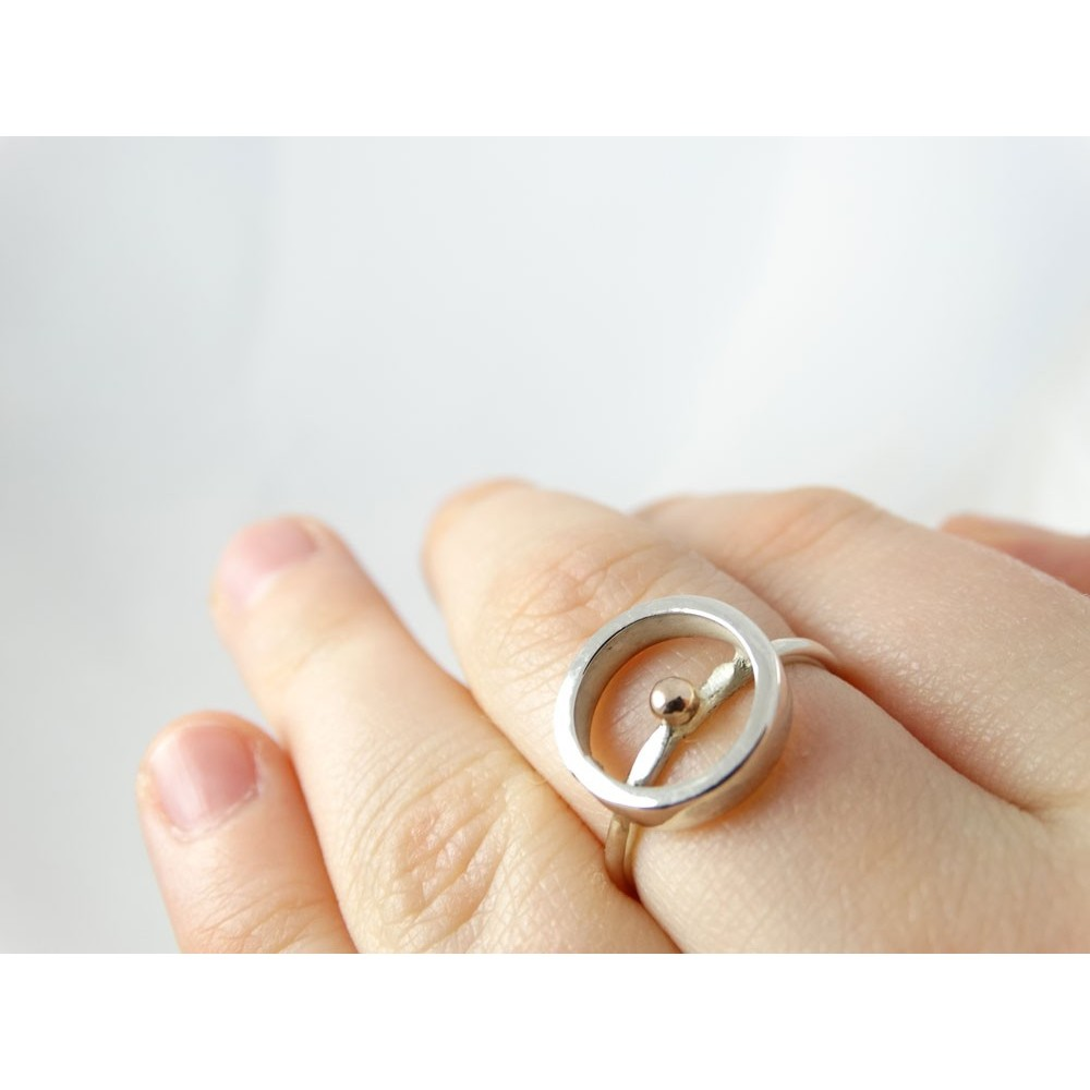 Sterling silver engagement ring LoveCircle