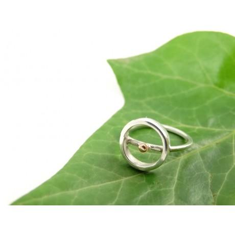 Sterling silver engagement ring LoveCircle, Bijuterii de argint lucrate manual, handmade