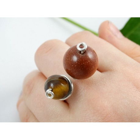 Sterling silver engagement ring LovePeaks, Bijuterii de argint lucrate manual, handmade