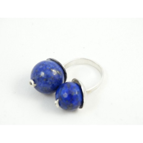 Sterling silver ring LoveBumps, Bijuterii de argint lucrate manual, handmade