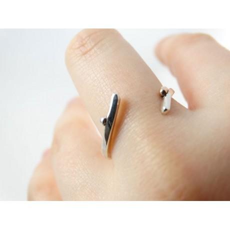 Sterling silver engagement ring SoberLoVe, Bijuterii de argint lucrate manual, handmade