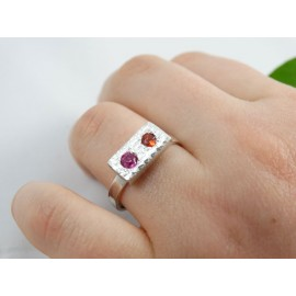Sterling silver engagement ring Love Instinct