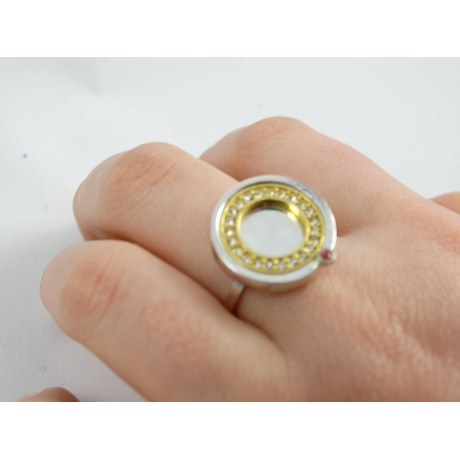 Sterling silver engagement ring LoveGoddess, Bijuterii de argint lucrate manual, handmade