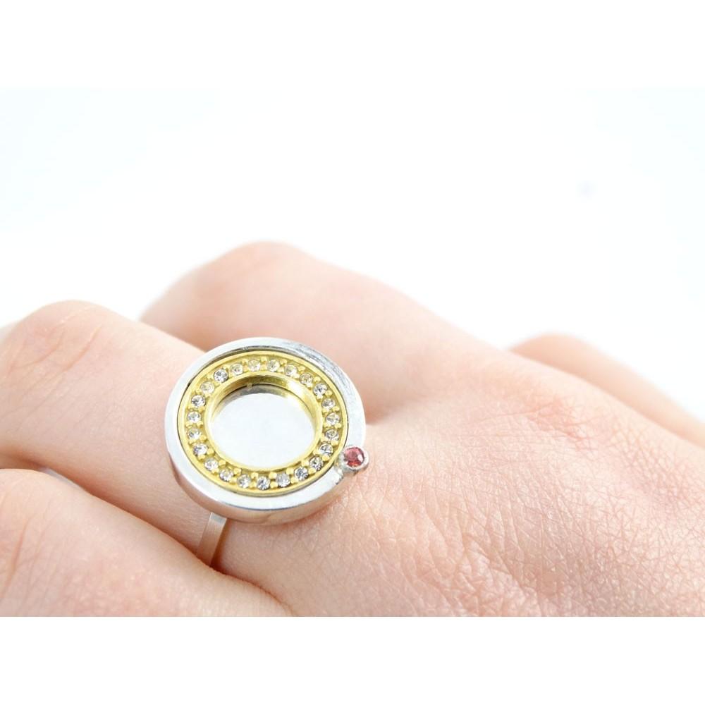 Sterling silver engagement ring LoveGoddess