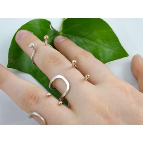 Sterling silver ring Quicksands & Tides, Bijuterii de argint lucrate manual, handmade