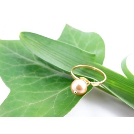 Sterling silver engagement ring Pearls&Love , Bijuterii de argint lucrate manual, handmade
