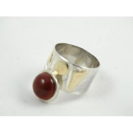 Sterling silver ring CrimsonLove, Bijuterii de argint lucrate manual, handmade