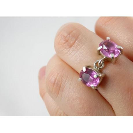 Sterling silver engagement ring TrueBlue, Bijuterii de argint lucrate manual, handmade