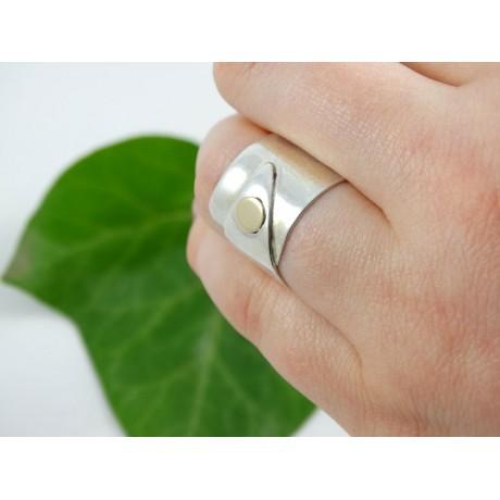 Sterling silver engagement ring Love Pinch, Bijuterii de argint lucrate manual, handmade